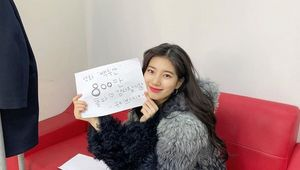큐티쁘띠…수지, 백두산 800만 돌파 감사 인사 [★SHOT!]