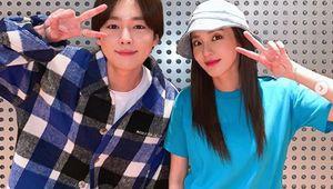 기다릴게..산다라박, 소속사 후배 위너 김진우 입소→애틋한 작별 인사[★SHOT!]