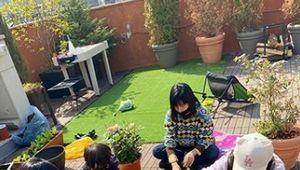 이범수♥ 이윤진, 소다 남매와 운동장만한 옥상에서 작물 재배[★SHOT!]