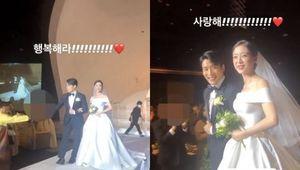 원더걸스 예은, 우혜림♥신민철 결혼식 현장 공개..행복해라 사랑해[★SHOT!]