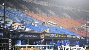 [사진]삼성 라이온즈,무승부의 아쉬움 뒤로한 채