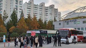 '한 시즌 만에 강등' 부산팬들, 오히려 선수단을 위로했다 [오!쎈 현장]